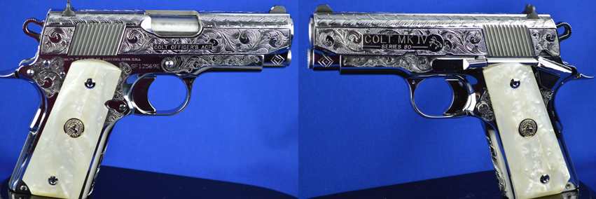 Colbert Collection Colt Anaconda with Snake Scales and American Scroll