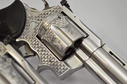 Beathard Engraving - Engraved Colt Anaconda and Colt Python Pair